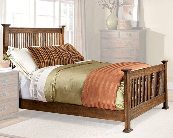 Intercon Oak Park Cal King Slat Bed INT-OP-BR-5825CK-MIS-C