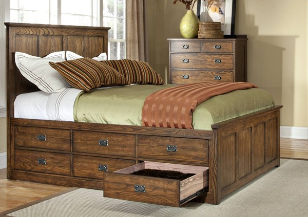 Intercon Oak Park 2pc Bedroom Set with 12 Drawer Queen Bed INT-OP-BR-5850-QS-12DWR-BR-S3