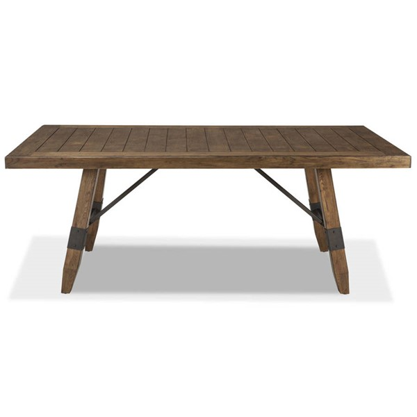 Intercon River Weathered Saddle Trestle Dining Table INT-RV-TA-42102-WSD-C