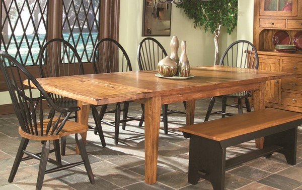 Intercon Rustic Traditions Tapered Leg Dining Table INT-RT-TA-44108S-RUS-C