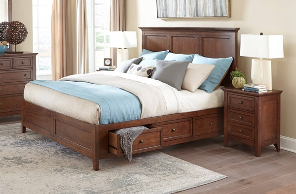 Intercon San Mateo Tuscan 2pc Bedroom Set with King Drawer Bed INT-SM-BR-8865KS-TUS-BR-S7