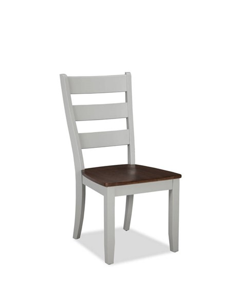 2 Intercon Small Space Cherry Gray Ladder Back Side Chairs INT-SS-CH-189W-CYG-RTA