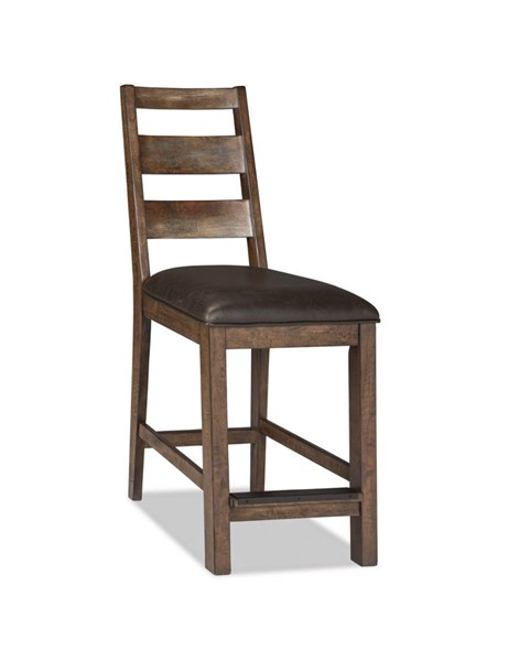 2 Intercon Taos Canyon Brown Ladder Back Counter Height Stools INT-TS-BS-489C-CYB-K24