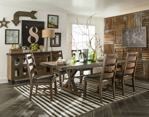 Intercon Taos Canyon Brown 7pc Dining Room Set INT-TS-4299-489C-CYB-DR-S1