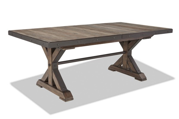 Intercon Taos Canyon Brown Trestle Dining Table INT-TS-TA-4299-CYB-C