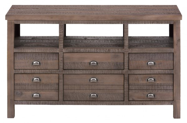 Falmouth Weathered Grey Wood 50 Inches Media Unit w/6 Drawers JFN-067-50