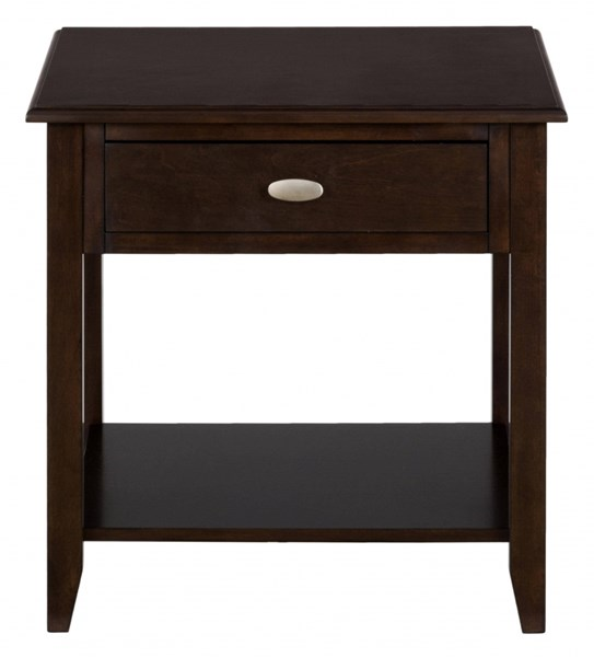 Merlot Casual End Table w/One Drawer & One Shelf JFN-1030-3