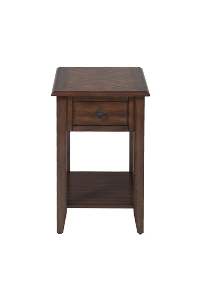 Jofran Furniture Brown Birch Veneer Chairside Table JFN-1031-7