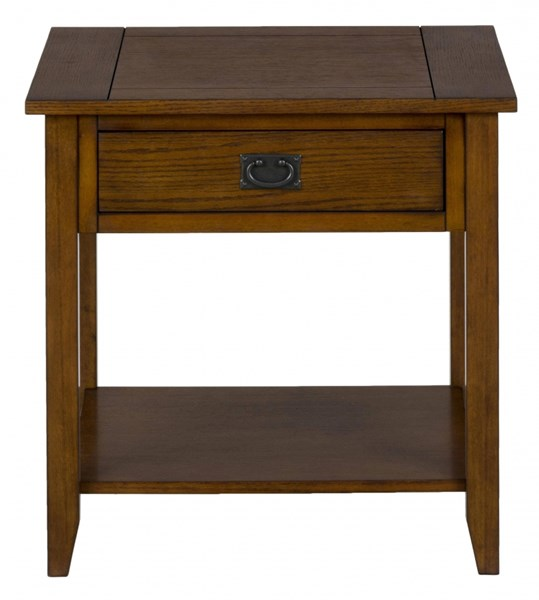 Mission Casual End Table w/One Drawer - Shelf & Black Hardware JFN-1032-3