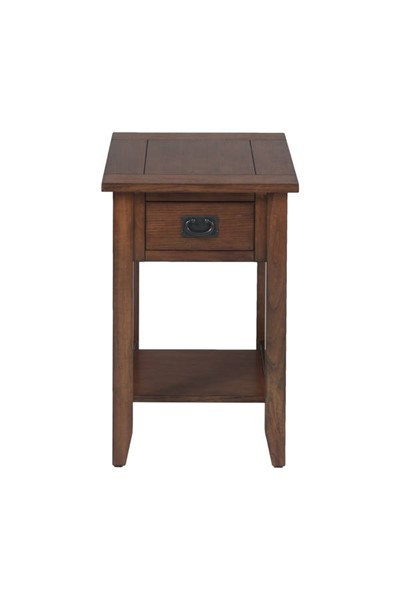 Jofran Furniture Mission Oak Veneer Chairside Table JFN-1032-7