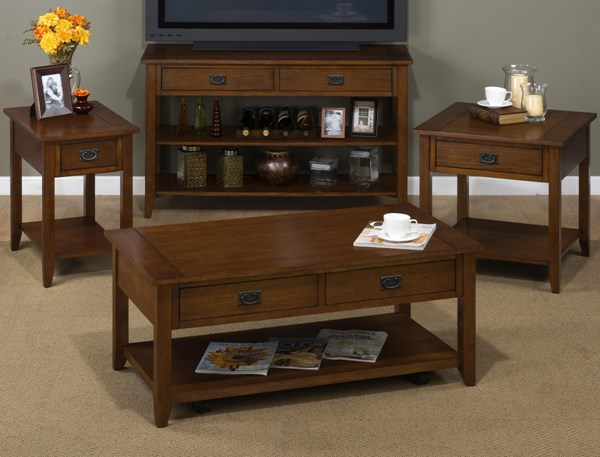 Mission Casual Oak Wood Coffee Table Set JFN-1032-OCT