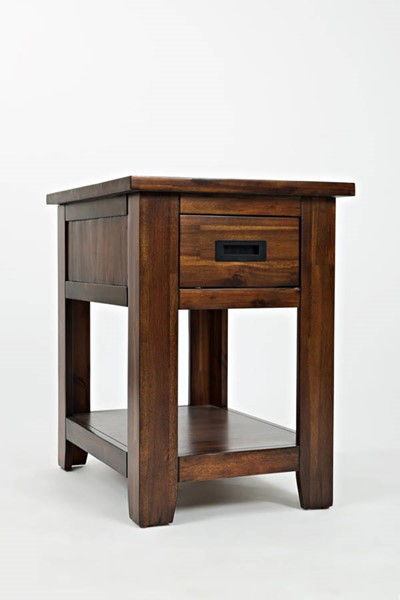 Coolidge Corner Casual Wood Drawer & Shelf Chairside Table JFN-1500-7