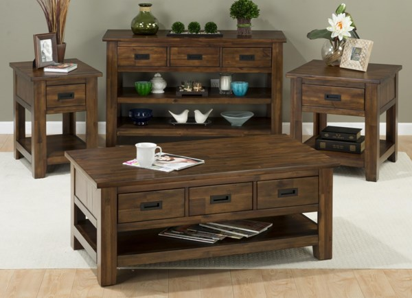 Coolidge Corner Casual Solid Wood 3pc Coffee Table Set JFN-1500-OCT-S1