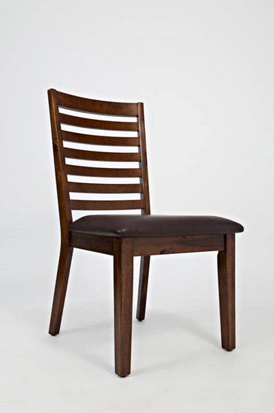2 Coolidge Corner Casual Faux Leather Wood Ladderback Dining Chairs JFN-1501-380KD