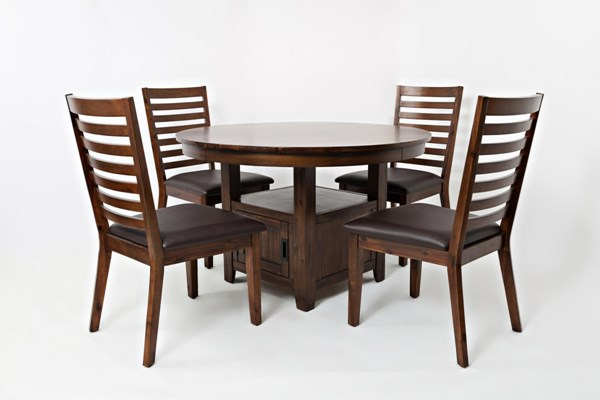 Coolidge Corner Casual Solid Wood 5pc Round Dining Room Set JFN-1501-DR-S1