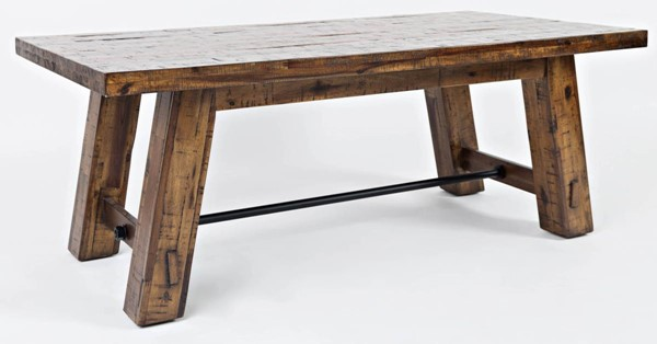 Jofran Furniture Cannon Valley Light Distressed Trestle Cocktail Table JFN-1510-11