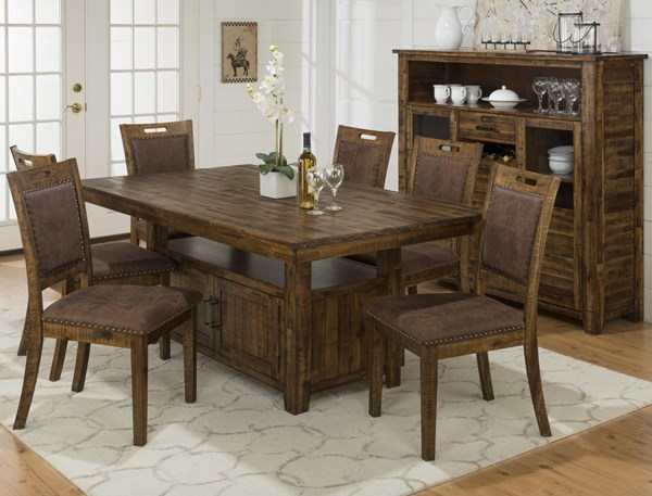 Cannon Valley Contemporary Solid Wood Upholstered 5pc Dining Room Set JFN-1511-DR-S1