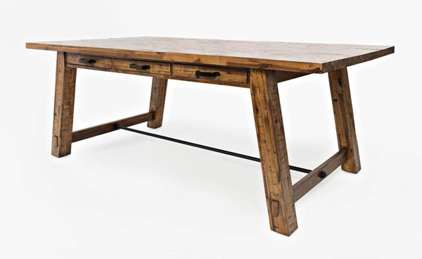 Jofran Furniture Cannon Valley Light Distressed Trestle Dining Table JFN-1511-82