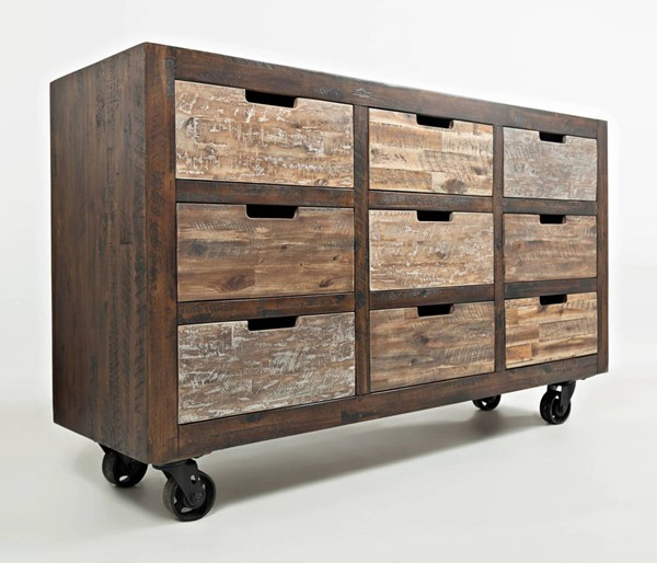 Jofran Furniture Painted Canyon Warm Brown 9 Drawers Accent Chest JFN-1600-60