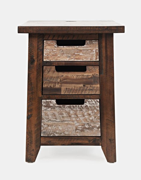 Jofran Furniture Painted Canyon Chairside Table JFN-1600-8