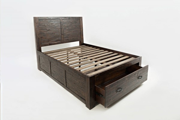 Jofran Furniture Jackson Lodge Youth Deep Chocolate Full Storage Bed JFN-1605-757677KT