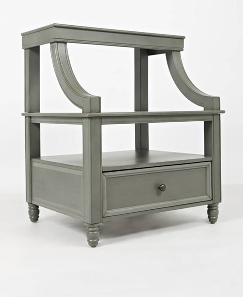 Avignon Youth Rustic Grey Step Up Nightstand JFN-1618-90