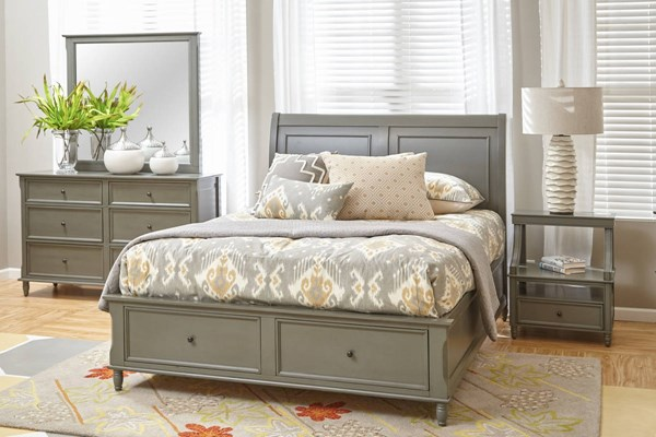 Avignon Youth Rustic Grey 2pc Bedroom Set W/Full Storage Bed JFN-1618-75767778-S