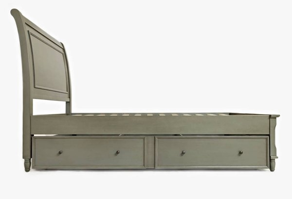 Avignon Youth Rustic Grey Twin Panel Bed w/Trundle Bed JFN-1618-65636462KT