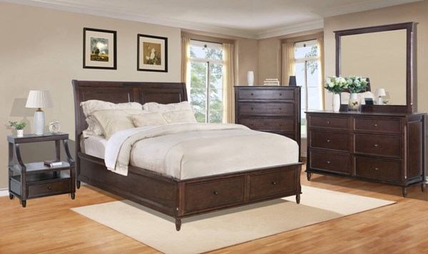 Avignon Youth Rustic Birch Cherry 2pc Bedroom Set W/Twin Storage Bed JFN-1619-65666768-S
