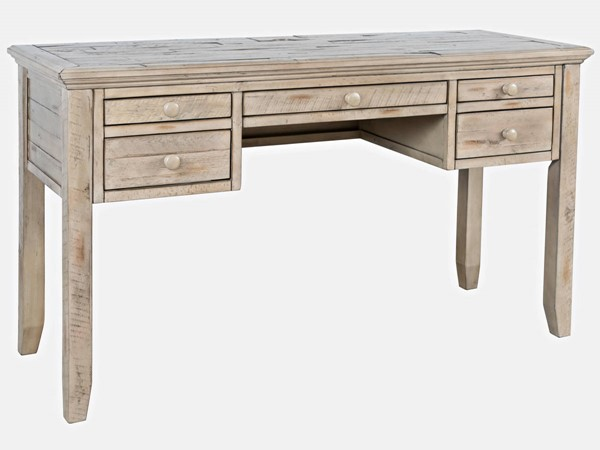 Jofran Furniture Rustic Shores Weathered Gray Distressed Acacia USB Charging Desk JFN-1620-5620
