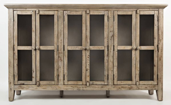 Jofran Furniture Rustic Shores Weathered Grey 70 Inch Accent Cabinet JFN-1620-70