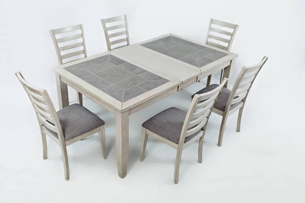 Sarasota Springs Standard 7pc Dining Room Set w/Extension Table JFN-1638-72-380KD-S2