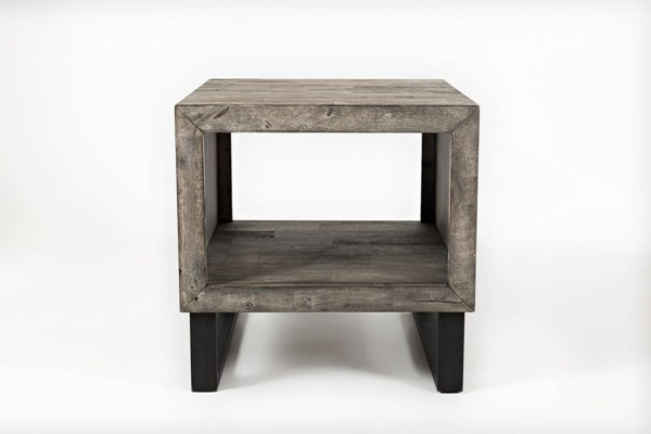 Jofran Furniture Mulholland Drive Grey Black End Table JFN-1670-3