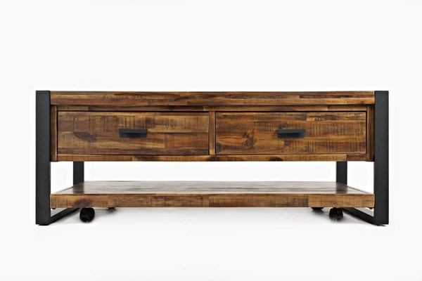 Jofran Furniture Loftworks Distressed Warm 2 Drawers Cocktail Table JFN-1690-5