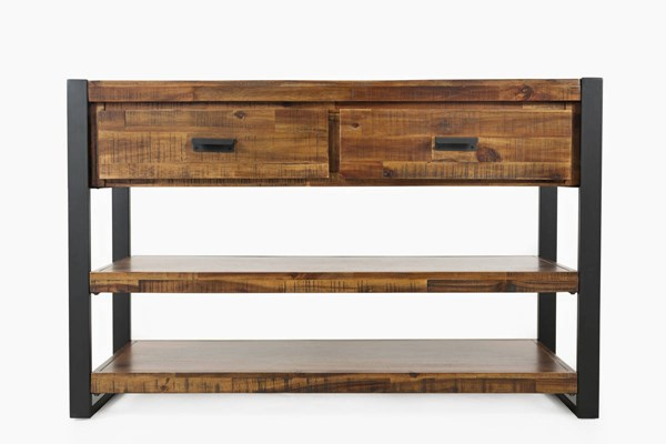 Jofran Furniture Loftworks Distressed Warm Drawer Sofa Media Console JFN-1690-9