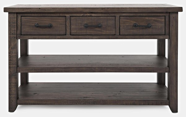 Jofran Furniture Madison County Harris Barnwood 3 Drawers Console Table JFN-1700-14