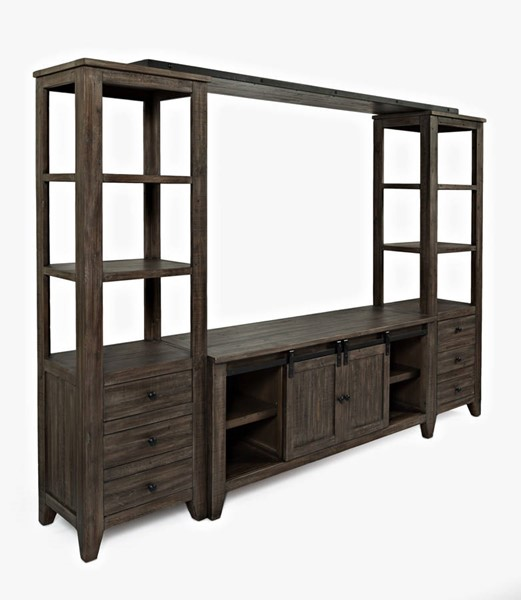 Jofran Furniture Madison County Barnwood Media Wall JFN-1700-602282KT