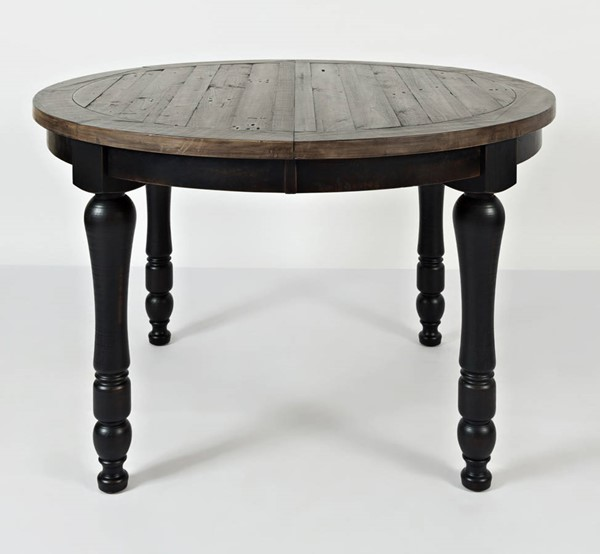 Jofran Furniture Madison County Vintage Black Round to Oval Dining Table JFN-1702-66