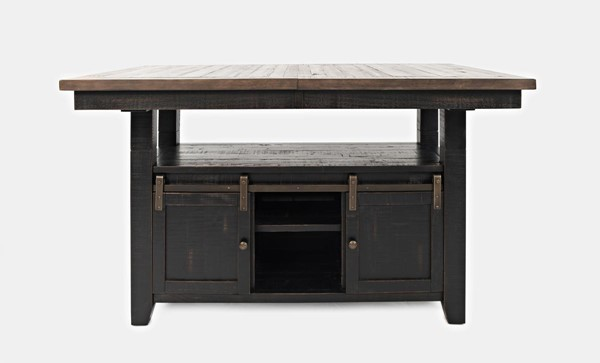 Jofran Furniture Madison County Vintage Black High and Low Dining Table JFN-1702-72TBKT