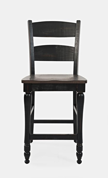 2 Jofran Furniture Madison County Vintage Black Counter Height Stools JFN-1702-BS401KD
