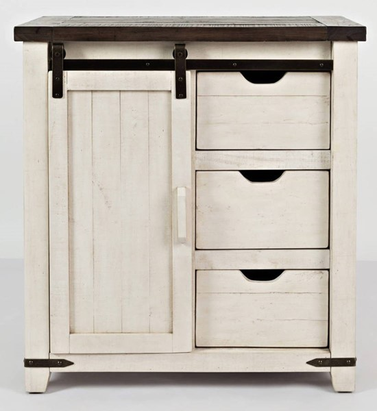 Jofran Furniture Madison County Vintage White 32 Inch Accent Cabinet JFN-1706-32