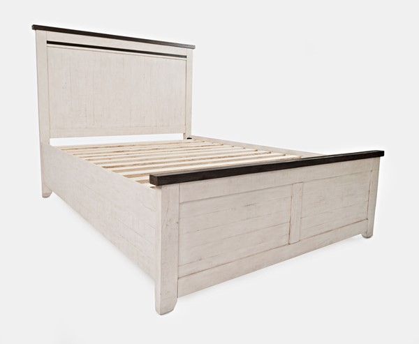 Jofran Furniture Madison County Vintage White Queen Panel Bed JFN-1706B-QPHB-QPFB-QRS