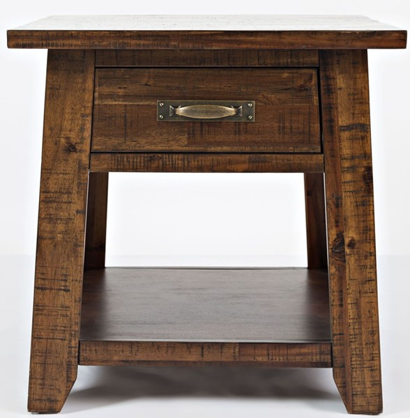 Jofran Furniture Sonoma Creek Lightly Distressed End Table JFN-1710-3