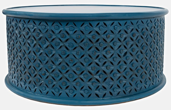 Jofran Furniture Decker Blue 36 Inch Round Coffee Table JFN-1730-1736BLU