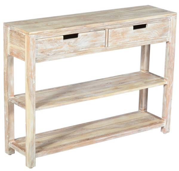 Jofran Furniture Global Archive White Wash Solid Wood Console Table JFN-1730-19040W