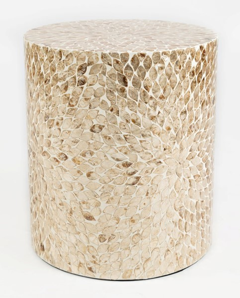 Jofran Furniture Global Archive Sand Small Capiz Accent Table JFN-1730-2814SND
