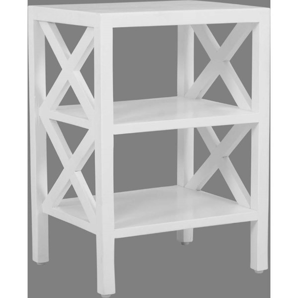 Jofran Furniture Global Archive White X Side Accent Table JFN-1730-3420