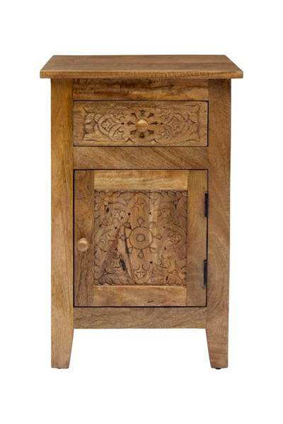 Jofran Furniture Global Archive Natural Hand Carved Accent Table JFN-1730-51
