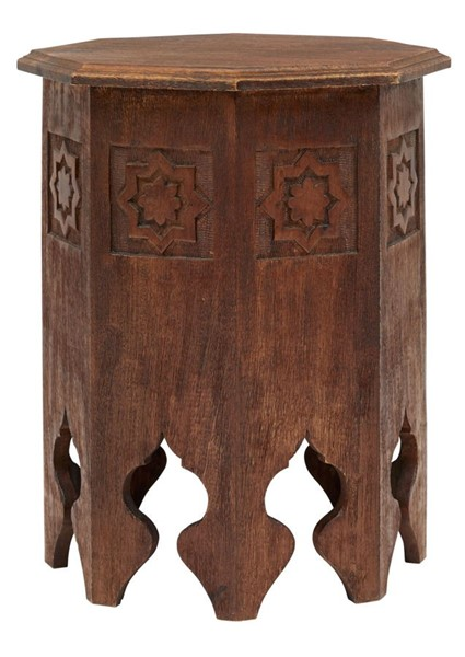 Jofran Furniture Global Archive Antique Walnut Sexton Table JFN-1730-80