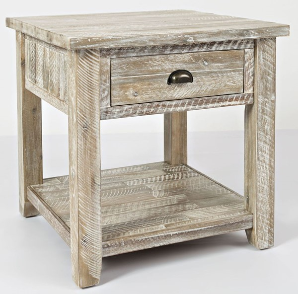 Jofran Furniture Artisans Craft Washed Grey End Table JFN-1743-3